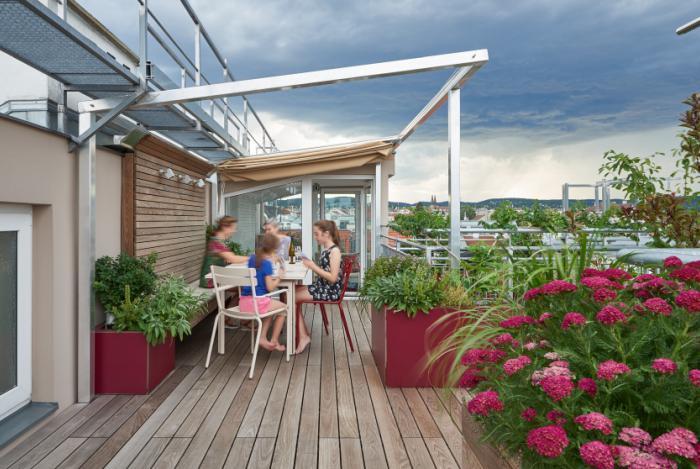 Atemberaubend Dachterrassengestaltung | gruenhoch3 @UR_91